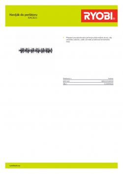 RYOBI RAC821 Naviják do perlátoru 5132004632 A4 PDF
