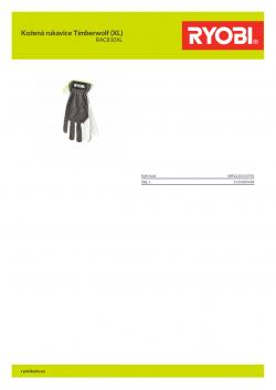 RYOBI RAC810XL Kožená rukavice Timberwolf (XL) 5132003438 A4 PDF