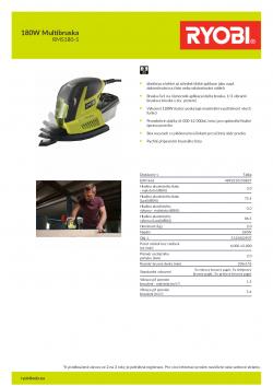 RYOBI RMS180 180W Multibruska 5133002907 A4 PDF