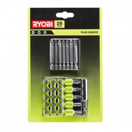 RYOBI RAK28MSD 28ks sada šroubovacích bitů 5132003305